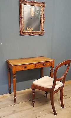 Antique Victorian mahogany writing desk / side table console