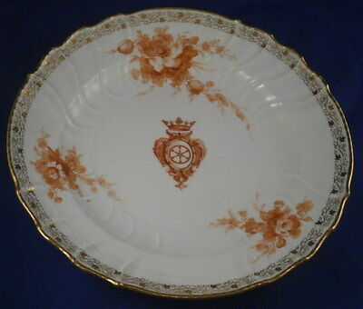 Antique KPM Berlin Porcelain Plate Nautical Royalty Porzellan Teller Count Earl