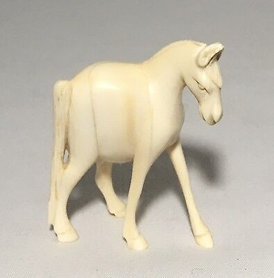 Antique/VINTAGE CARVED BONE WHITE IVORY ELEPHANT FIGURINE