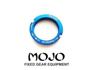 CNC ANODIZED Cro-Mo TRACK LOCK RING BLOCK MOJO Fixed Gear Lockring GREEN