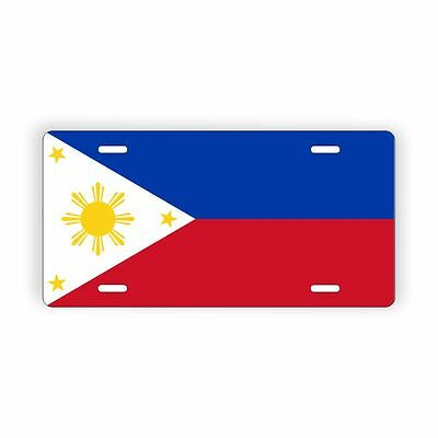 """Philippines Flag Licence Plate 6"""" x 12"""" Aluminum Plate"""