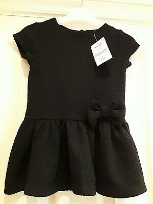New Next Black Dress Age 12-18 Months  (Cost £11)