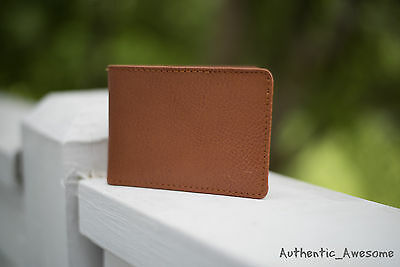 NWT Hollister By Abercrombie & Fitch Mens Genuine Leather Wallet Brown