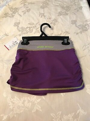 Under Armour Girls Size 5 Purple & Gray Skort Skirt Shorts ~ Nwt