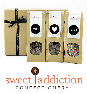 Sweet Addiction Premium Chocolate Gift Hamper Box - We Love You