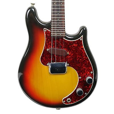 Vintage 1970S Fender Mandocaster Electric Mandolin Three Tone Sunburst Finish