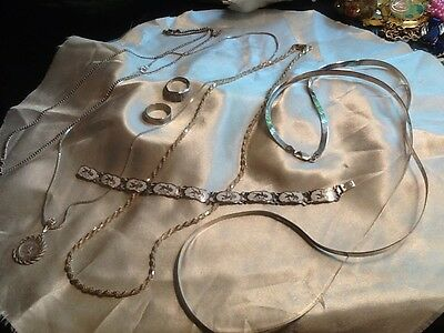 Vintage Sterling Silver/ 925 Lot Of Misc. Jewelry