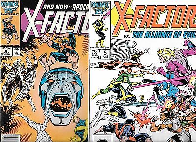 X-Factor #5 and #6 /Cameo and 1st appearance of Apocalypse  (Marvel Comics 1986)