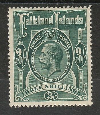 Falkland Islands 1912 Kgv 3/- Wmk Multi Crown Ca