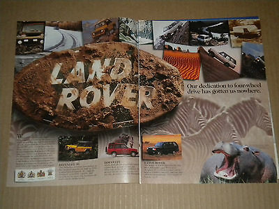 1996 Land Rover Ad  Our dedication to four-wheel drive has gotten us nowhere