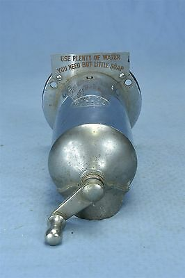 Antique 1916 WALL MOUNT HAND CRANK SOAPITOR SOAP DISPENSER NICKEL PLATED #03381