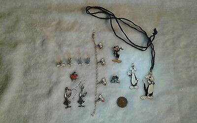 WB Looney Tunes Jewelry Lot: Sylvester, Bugs Bunny, Daffy Duck