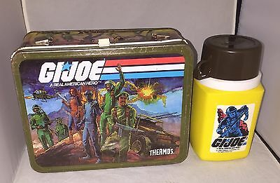 GI Joe A Real American Hero 1982 Metal & Lunchbox with Thermos - Missing Handle