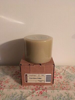 Longaberger Pint Size Pillar Candle - Sandalwood Sage - New