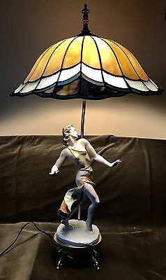 Antique Art Deco German Rosenthal Porcelain Figurine Lamp