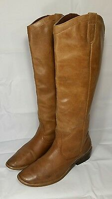FRANCO FORTINI Winchester Size 8M Brown Leather~Riding~Wide Calf Womens Boots!