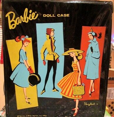 1961 ORIGINAL BARBIE PONYTAIL DOLL CARRYING CASE~1st ISSUE~CLEAN~DRAWER~VeryNice