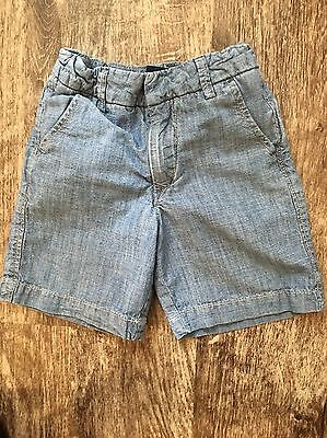 Baby Gap Boys Shorts Size 4T Years Adj Waist Chambray