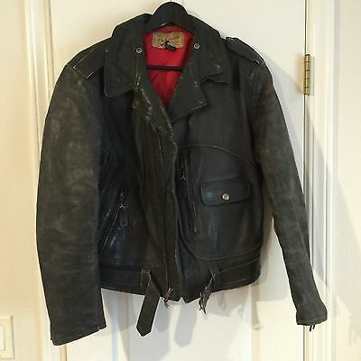 Rare 1950s Leather D-pocket Sears Hercules Motorcycle Jacket