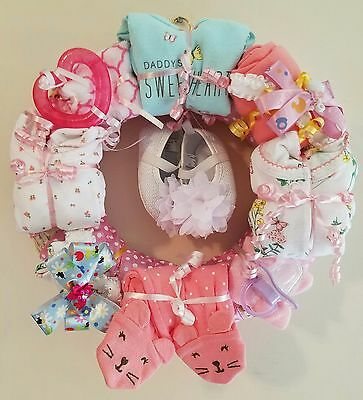 Daddy's Sweetheart Baby Girl Clothing and Accessories Wreath