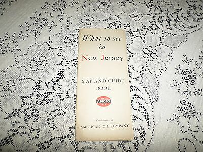 """Amoco 1940 """"What to see in New Jersey""""  Map & Guide Book"""