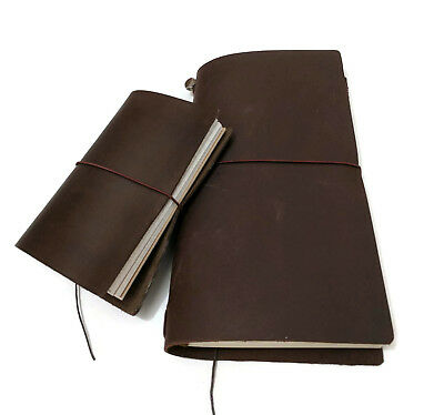 Brown Edition Midori Style Travelers Notebook Genuine Leather Refillable Diary