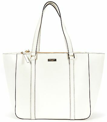 KATE SPADE Authentic White Saffiano Leather Shoulder Bag Tote