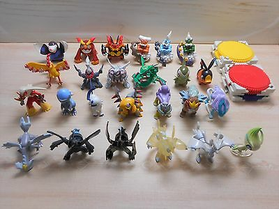Pokemon Figure Tomy Lot of 25 Monster Collection Set Entei Clear Zekrom Reshiram