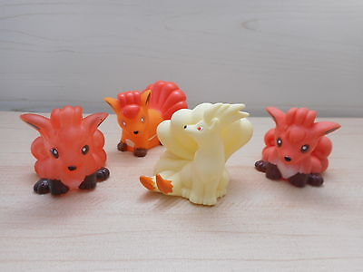 Pokemon Vulpix Ninetales Finger Puppet Figure Set of 4 Bandai Clear Rare