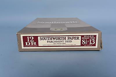 Southworth Typewriter Paper Parchment 100% Cotton Ruled 8.5-13 500 Sheets