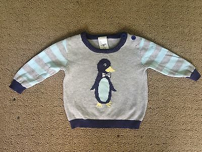 Baby Penguin Knit Jumper Pullover - Size 000  Excellent Condition