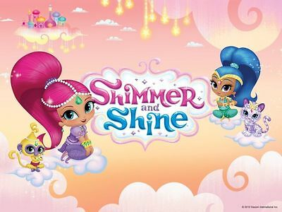 SHIMMER And SHINE 1 4 Or 2 Sheet Birthday Cake Topper Frosting Edible