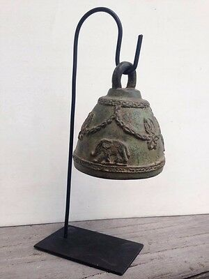 Bell Buddha Thai Temple Vintage Chime Ancient Wind Elephant Hang Clapper Bronze