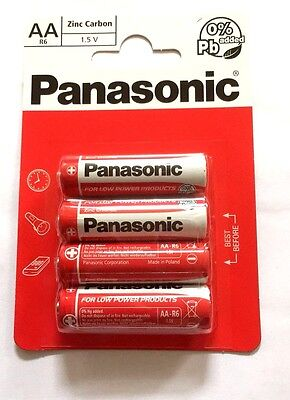16 x PANASONIC BATTERY AA R6 UM3 ZINC CARBON 1.5v Sealed Batteries Expiry 11/19