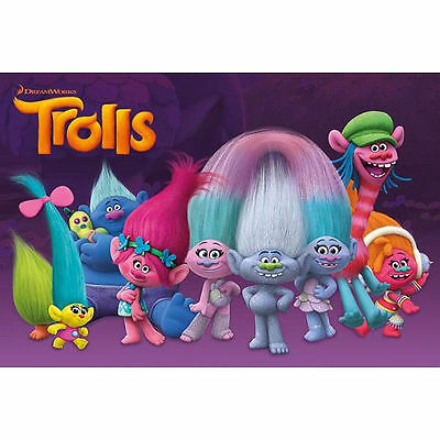 Trolls 1 4 Or 2 Sheet Birthday Cake Topper Frosting Edible Icing