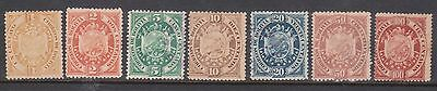 (U24-9) 1894 Bolivia 7set of stamps 1c to 100c MNG (C)