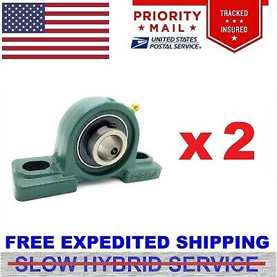 "2pcs UCP 204-12 Pillow Block Bearing Self-Aligning 3/4"" Bore 2 Bolt"