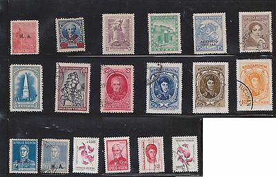 (U24-1) 1910-60s Argentina mix of 72stamps values to 1000p (A)
