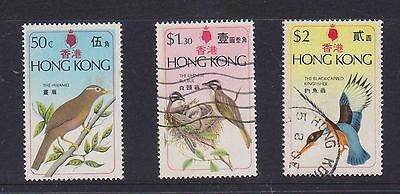 (U23-44) 1975 Hong Kong 3set of Bird stamps 50c, $1.30 & $2 (G)
