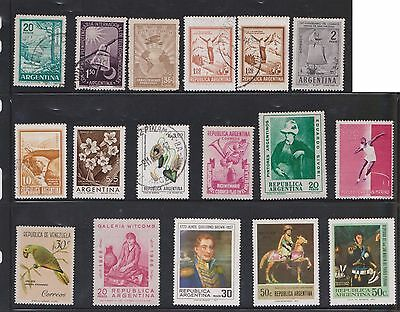 (U24-2) 1928-60s Argentina mix of 38stamps values to 100p (B)