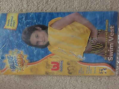 Childs Childrens Kids Inflatable Swimming Vest Jacket for Aged 3-6 Years BNIP
