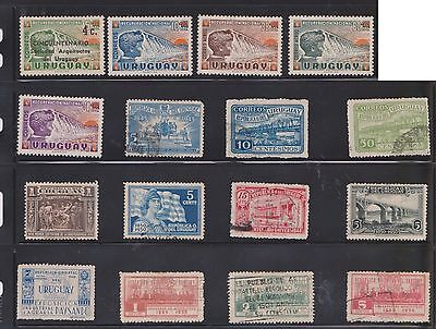 (U23-26) 1908-70 Uruguay mix of 56stamps values to 2p (G)