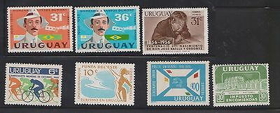 (U23-27) 1930-80 Uruguay mix of 28stamps values to 8p (H)