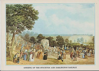 (K22-34) story of the post opening the Stockton&Darlington railway picture&Text