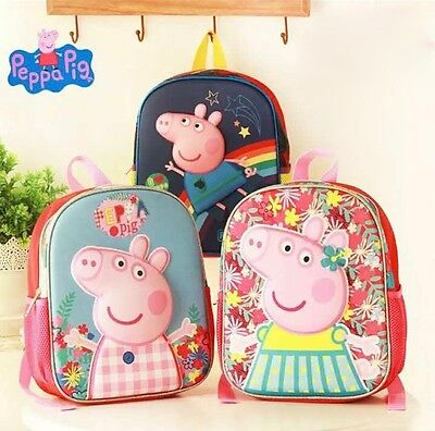 Peppa Pig Kids Boys Girls Backpack