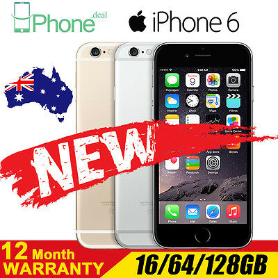 Unlocked NEW Sealed Box iPhone 6 16 64 128GB Space Grey Silver Gold 4G LTE Phone