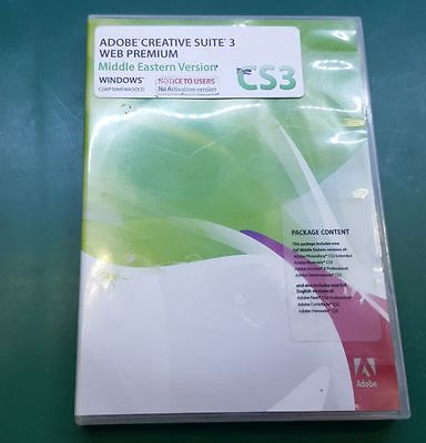 Adobe Creative Suite 3 Web Premium Middle Eastern Ver for Windows w/ License Key