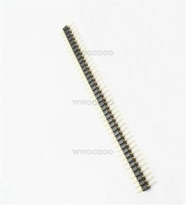 50Pcs 2.54Mm Round Pin Header Male Gold Plated Machined Single Row 40Pin New I E