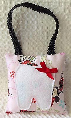 """** """"Disney Minnie Mouse"""" Floral Tooth Fairy Pillow - Pink - NEW"""