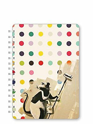 Go Stationery-Taccuino in formato A5, motivo: icone Painter Rat